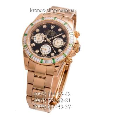 Rolex Cosmograph Daytona Chronograph Green Markers Gold/Black