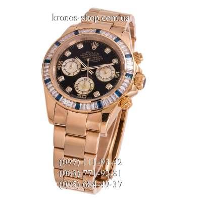 Rolex Cosmograph Daytona Chronograph Blue Markers Gold/Black