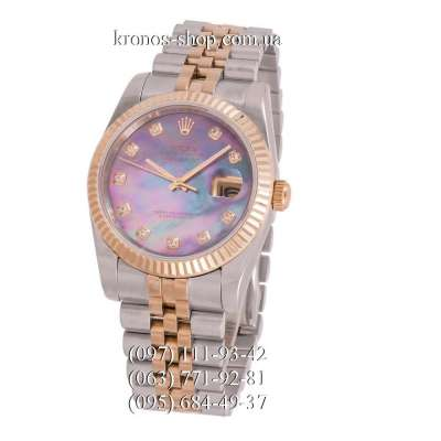 Rolex Datejust Steel Brilliants Fluted Bezel Silver-Gold/Gold/Multicolor 1