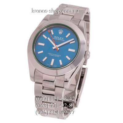 Rolex Oyster Perpetual Milgauss Silver/Blue