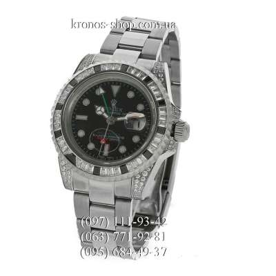 Rolex GMT Master II White Gold Jewellery Silver/Black