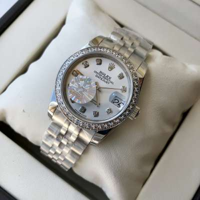 Rolex Datejust Diamond 31mm Silver/White