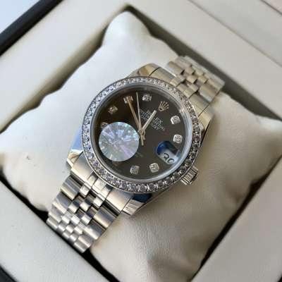 Rolex Datejust Diamond 31mm Silver/Black