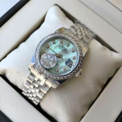 Rolex Datejust Diamond 31mm Silver/Turquoise