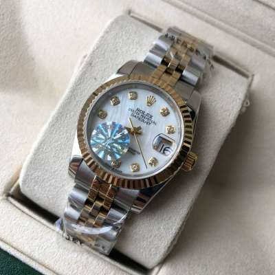 Rolex Datejust Pearl 31mm Silver-Gold/White