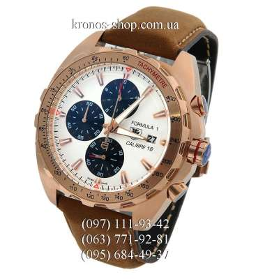 Tag Heuer Formula 1 Calibre 16 Brown/Gold/White