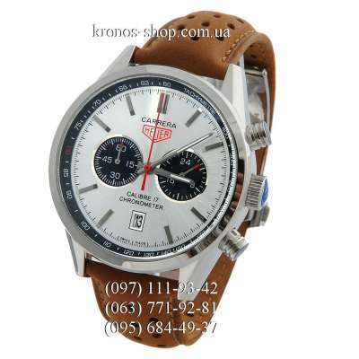Tag Heuer Carrera Calibre 17 Chronograph Brown/Silver/White