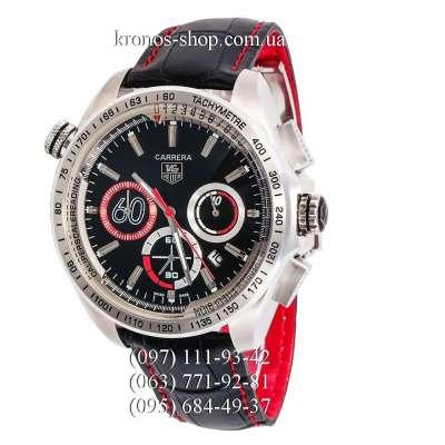 Tag Heuer Carrera 60 Sport Chronograph Black/Silver/Black-Red