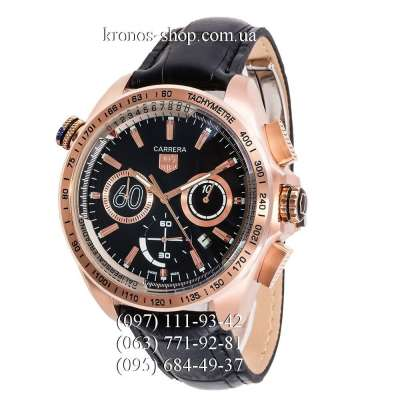 Tag Heuer Carrera 60 Sport Chronograph Black/Gold/Black