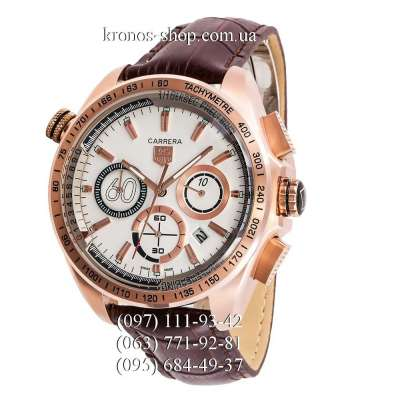 Tag Heuer Carrera 60 Sport Chronograph Brown/Gold/White