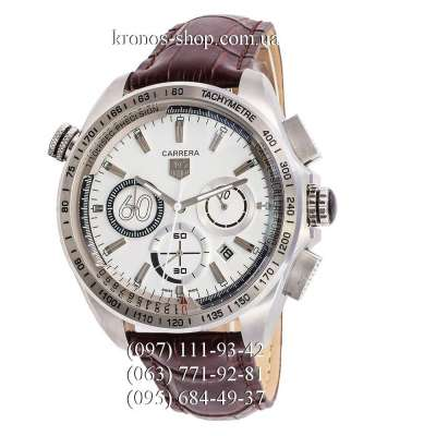 Tag Heuer Carrera 60 Sport Chronograph Brown/Silver/White