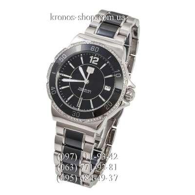 Tag Heuer Formula 1 Steel-Ceramic-Diamonds Silver-Black/Black