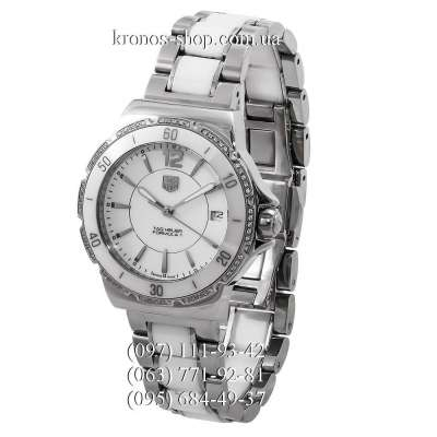 Tag Heuer Formula 1 Steel-Ceramic-Diamonds Silver-White/White