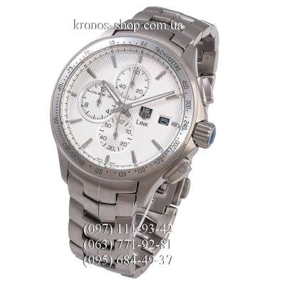TAG Heuer Link Calibre 16 Chronograph Silver/White
