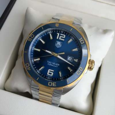 Tag Heuer Formula 1 Calibre 5 Automatic Steel Yellow Gold/Blue