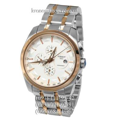 Tissot T-Classic Couturier Automatic Steel Silver-Gold/Gold/White