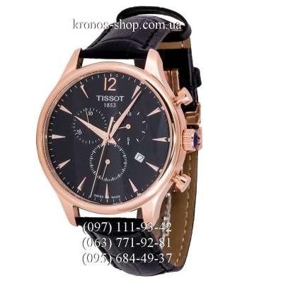 Tissot T-Classic Tradition Chronograph Black/Gold/Black