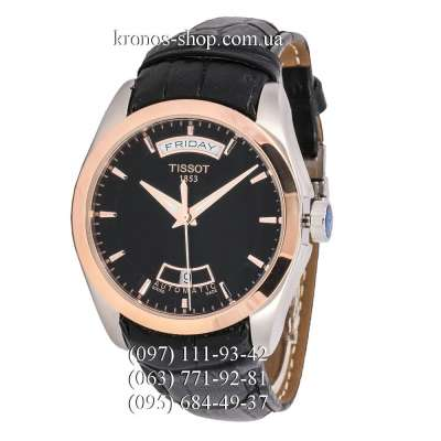 Tissot T-Classic Couturier Automatic Date-Weekday Silver-Gold/Black