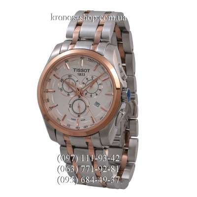 Tissot T-Classic Couturier Chronograph Steel Silver-Gold/Gold/White