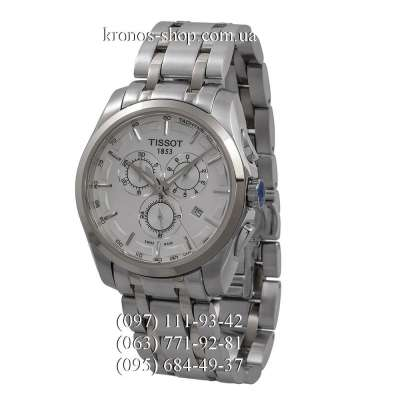 Tissot T-Classic Couturier Chronograph Steel Silver/White