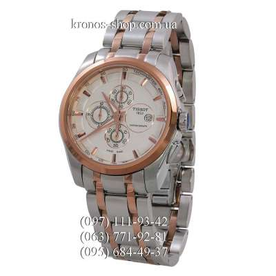 Tissot T-Classic Couturier Chronograph Steel Alt Silver-Gold/Gold/White