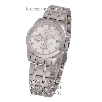 Tissot T-Classic Couturier Chronograph Lady Steel All Silver