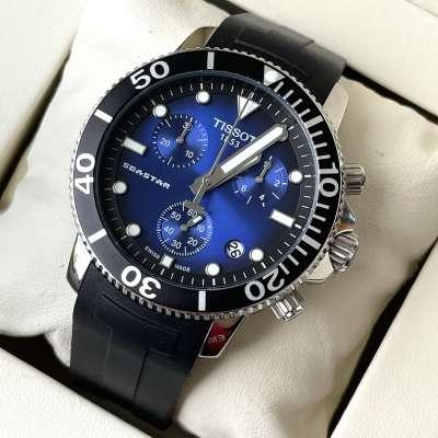 Tissot T-Sport Seastar 1000 Chronograph Silver/Blue/Black