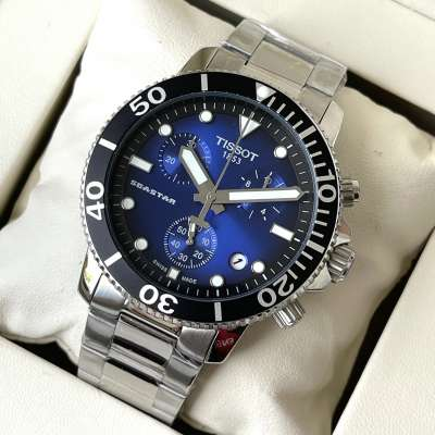 Tissot T-Sport Seastar 1000 Chronograph Bracelet Silver/Blue/Black