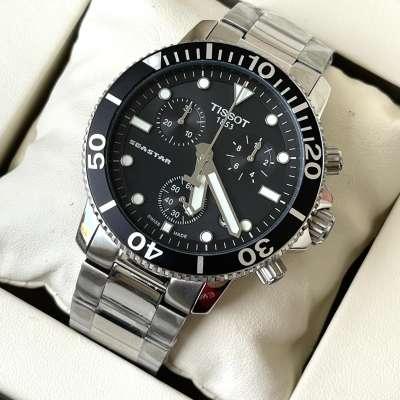 Tissot T-Sport Seastar 1000 Chronograph Bracelet Silver/Black