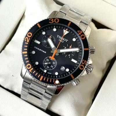 Tissot T-Sport Seastar 1000 Chronograph Bracelet Silver/Black/Orange