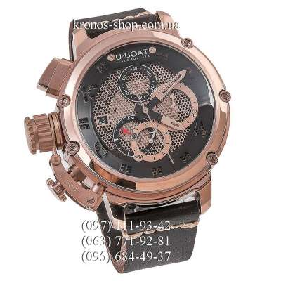 U-Boat Italo Fontana Chimera Net Tungsten Chronograph Brown/Gold