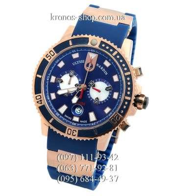 Ulysse Nardin Maxi Marine Diver Chronograph Blue/Gold/Blue
