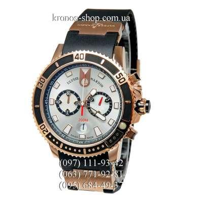 Ulysse Nardin Maxi Marine Diver Chronograph Black/Gold/White