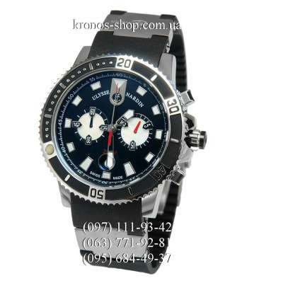 Ulysse Nardin Maxi Marine Diver Chronograph Black/Silver/Black