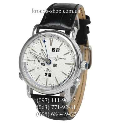 Ulysse Nardin Classic GMT Perpetual Black/Silver/White