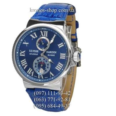 Ulysse Nardin Marine Chronometer Leather Blue/Silver/Blue
