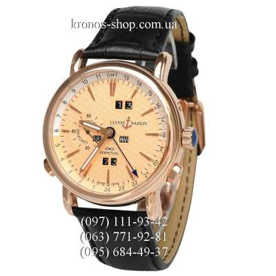 Ulysse Nardin Classic GMT Perpetual Black/Gold/Gold