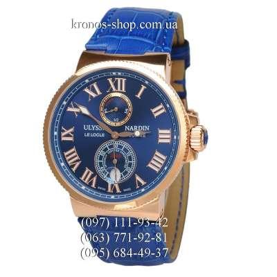 Ulysse Nardin Marine Chronometer Leather Blue/Gold/Blue