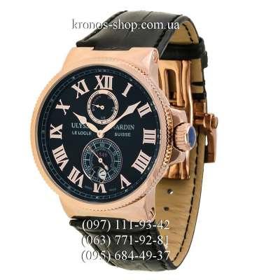 Ulysse Nardin Marine Chronometer Leather Black/Gold/Black