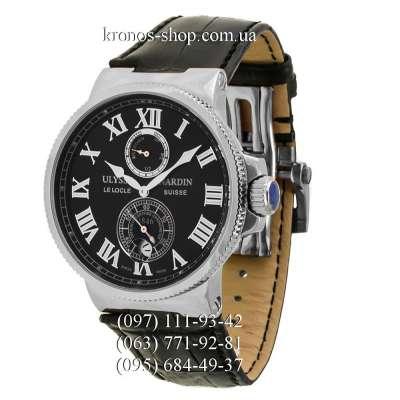 Ulysse Nardin Marine Chronometer Leather Black/Silver/Black