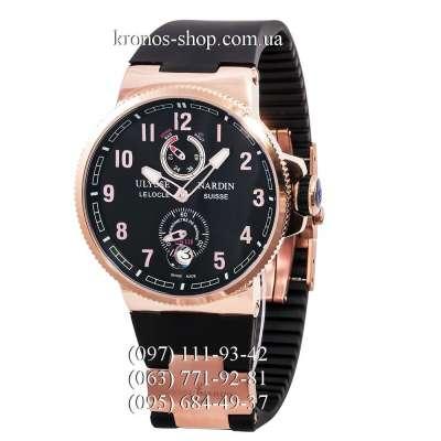 Ulysse Nardin Maxi Marine Chronometer Manufacture Black/Gold/Black