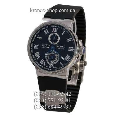 Ulysse Nardin Marine Chronometer Quartz Black/Silver/Black