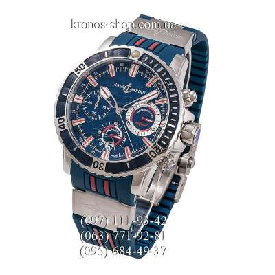 Ulysse Nardin Diver Chronograph Hammerhead Shark Blue/Silver/Blue