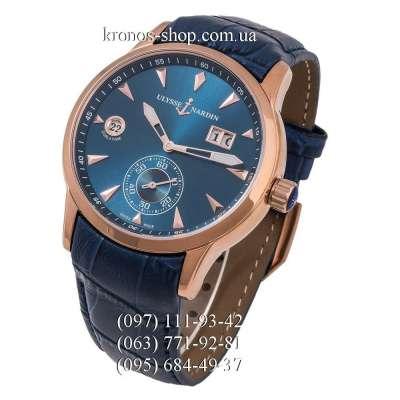 Ulysse Nardin Classic Dual Time Manufacture Blue/Gold/Blue
