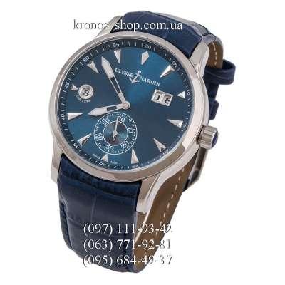 Ulysse Nardin Classic Dual Time Manufacture Blue/Silver/Blue