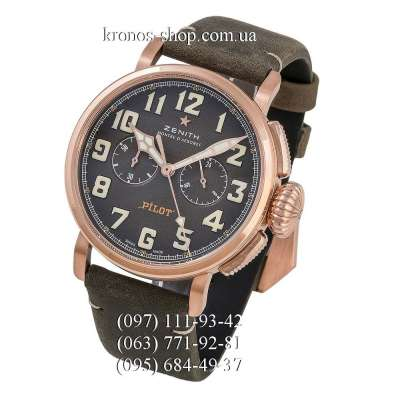 Zenith Pilot Montre d Aeronef Chronograph Grey/Gold/Grey