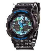Casio G-Shock GA-100 Black/Blue Military AAA