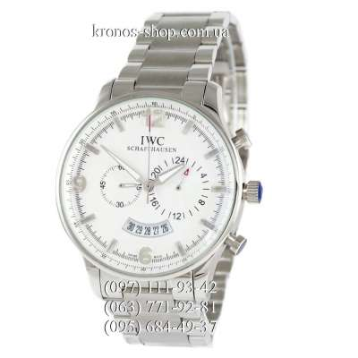 IWC Chronograph Big Dial Steel Silver/White