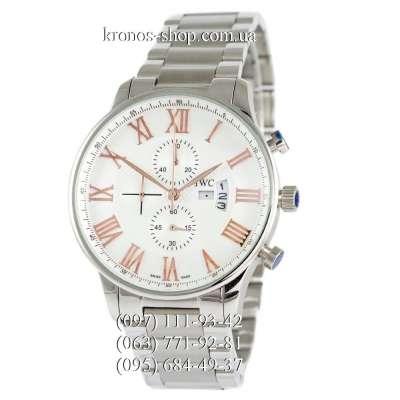 IWC Chronograph Steel Silver/White-Orange