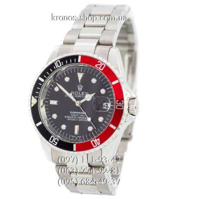 Rolex Submariner Date AA Silver/Black-Red/Black